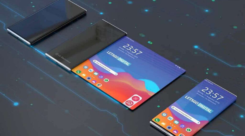 Supuesto celular enrollable de LG