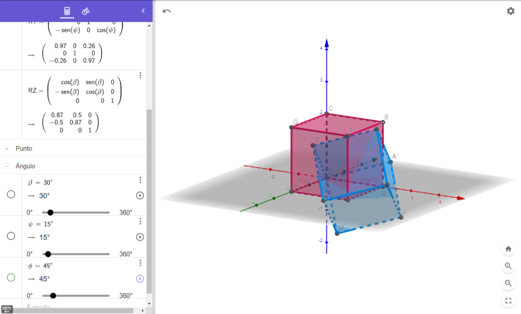 Rotación 3D con Ángulos de Euler