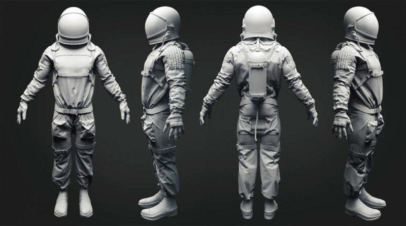 modelo 3d astronauta