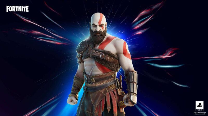 Kratos en el videojuego Fornite