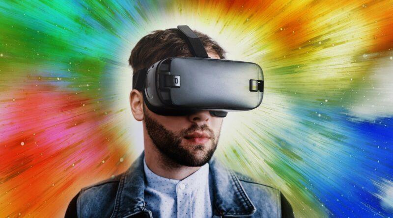 Hombre realidad virtual