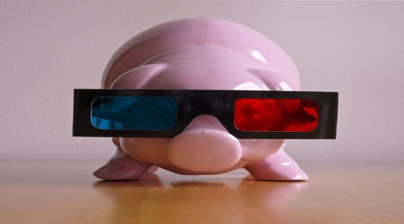 cerdo con gafas