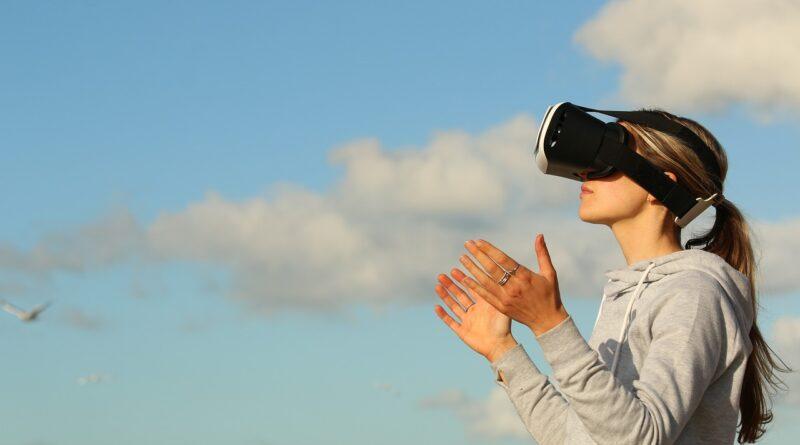 Mujer realidad virtual