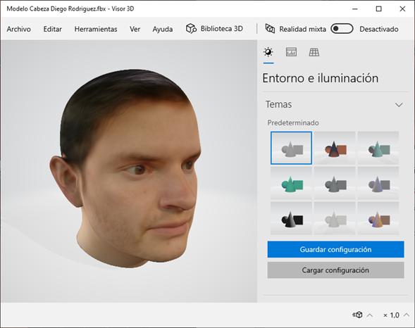Modelo 3D - Blender Facebuilder