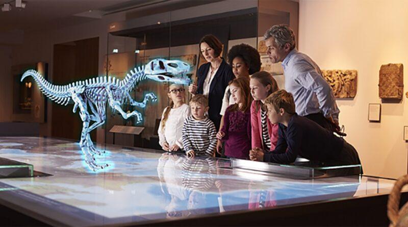 Dinosauro presentado a traves de la VR